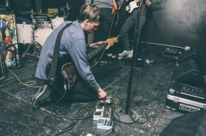 Spencer Radcliffe preforming in Best Witches in Chicago, photo taken from Couch King Emo's blog.