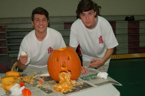 These students created a pumpkin that threw up it's insides!