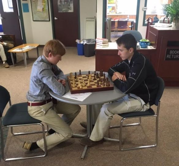 week in pictures underclassmen playing chess